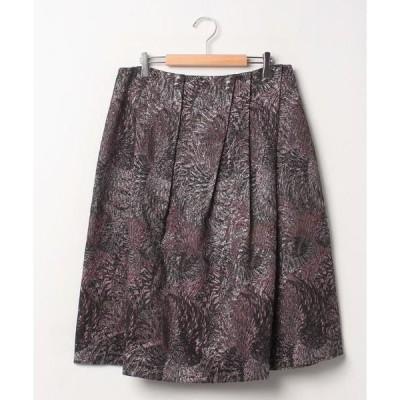 LAPINE ROUGE / ラピーヌ ルージュ インポート素材 ラメ幾何ストレッチジャカードスカート
