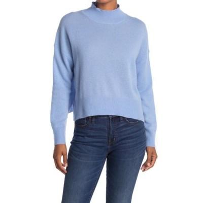 360カシミア レディース ニット&セーター アウター Emily Mock Neck Cashmere Sweater BLUEBELL