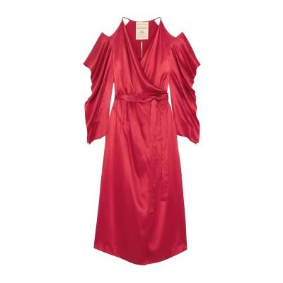 ローラン ムレ ROLAND MOURET 7分丈ワンピース・ドレス レッド 10 シルク 100% 7分丈ワンピース・ドレス