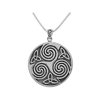 【送料無料】Jewelry Trends Large Celtic Triskelion Trinity Knot Sterling Silver Pendant