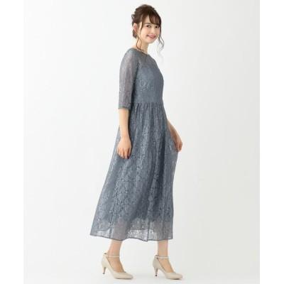 (anySiS/エニィ スィス)エアリレーシー ドレス/レディース スモーキ―ブルー