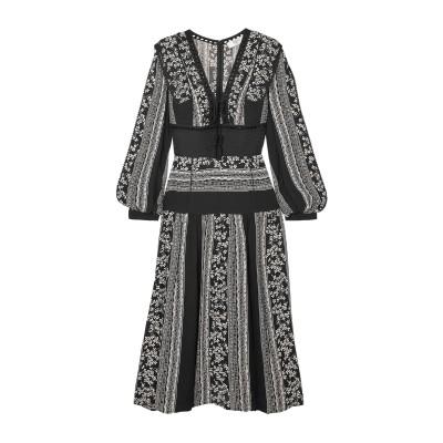 SEA 7分丈ワンピース・ドレス ブラック 0 レーヨン 100% / コットン 7分丈ワンピース・ドレス