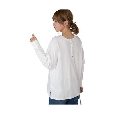[アドティエ] 前後2WAYTシャツ パネル切替 ボタン カットソー スリット ドロップショルダー 袖リブ 11104009オフF