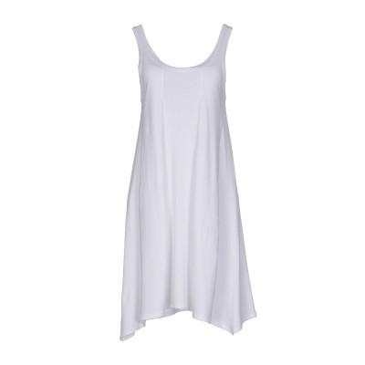 DKNY ミニワンピース&ドレス ホワイト L ピマコットン 94% / ポリウレタン 6% ミニワンピース&ドレス