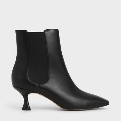 スプールヒール チェルシーブーツ / Spool Heel Chelsea Boots (Black)