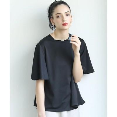 【コカ】とろみ素材袖フレアTシャツ