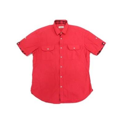 【中古】ザラマン ZARA MAN ワークシャツ カットソー 無地 L 赤/5 メンズ 【ベクトル 古着】