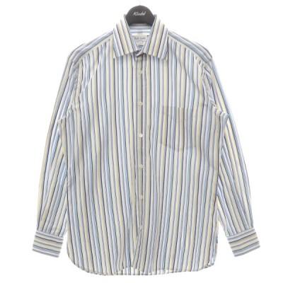 Paul Smith ×GUY ROVER ストライプシャツ ホワイト×ブルー サイズ:M (フレスポ東大阪店) 210423