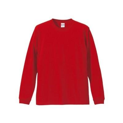 Tシャツ メンズ レディース 長袖 無地 uネック 綿 綿100 大きい 厚手 シャツ tシャツ スポーツ ブランド トップス クルーネック 丈夫 男 女 xs s m l 2l 3l 赤
