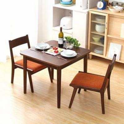 ダイニングテーブルセット ダイニングセット おしゃれ 安い 北欧 食卓 正方形 2人用 二人用 コンパクト 小さめ 一人暮らし 75×75 椅子 2