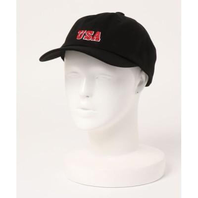 SPINNS / USA刺繍デザイン ローキャプ MEN 帽子 > キャップ