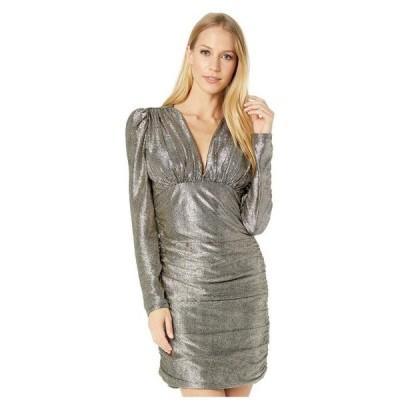 ビーシービージーマックスアズリア レディース ワンピース トップス Long Sleeve Metallic Cocktail Dress