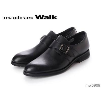 マドラスウォーク madras Walk ビジネスシューズ モンクストラップ 防水 ゴアテックス 幅広 4E EEEE MW5908