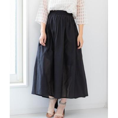 【フィズ】 インド綿フレアスカート mitis SS レディース ブラック M Fizz
