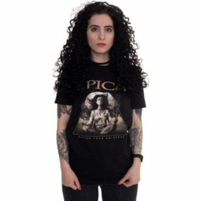 インペリコン Impericon レディース Tシャツ トップス - Design Your Universe - T-Shirt black