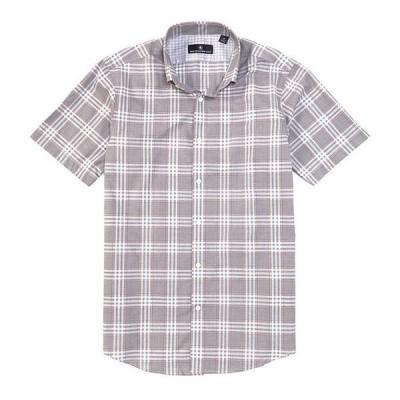 ハート シャフナー マルクス メンズ シャツ トップス Short Sleeve Button Down Collar Mini Houndstooth Sportshirt
