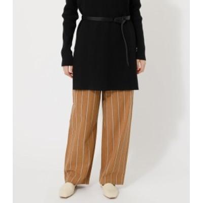 【62%OFF】 STRIPE EASY WIDE PANTS/ストライプイージーワイドパンツ WOMENSレディース