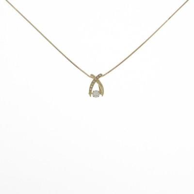 【新品】K18YG ダイヤモンドネックレス 0.210ct・E・VS1・GOOD