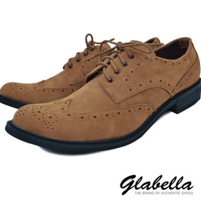 ローファー 靴 メダリオン ウイングチップ シューズ フェイクレザー メンズ(ベージュブラウン) glbt001