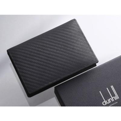 H8393M 美品 ダンヒル 本革 名刺 カードケース(マチ有り) 箱付き SPAIN製