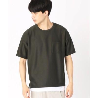COMME CA ISM/コムサイズム 【セットアイテム】Tシャツ × タンクトップ カーキ L