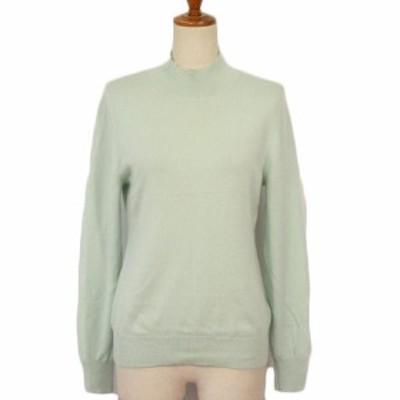 【中古】セットプルミエ SEPT PREMIERES セーター ニット ハイネック カシミア42 緑 グリーン レディース