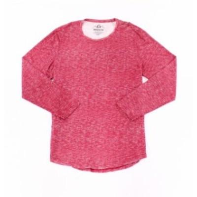 American  ファッション トップス American Rag Mens Heather Red Size XL Basic Crewneck Tee Pocket T-Shirt