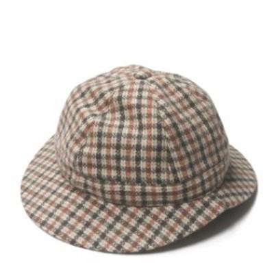 Saravah サラヴァ ガンクラブチェック ベルハット フリー(内周約58cm) ベージュ 帽子