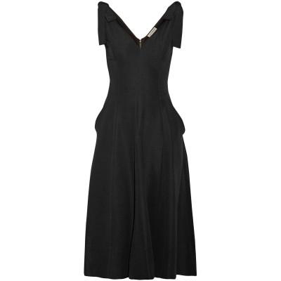 ULLA JOHNSON 7分丈ワンピース・ドレス ブラック 4 レーヨン 55% / ポリエステル 45% 7分丈ワンピース・ドレス