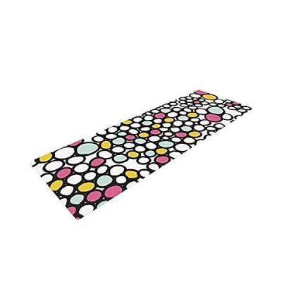 ヨガマット フィットネス EO1008BYM01 Kess InHouse Emine Ortega Yoga Exercise Mat, Pebbles Pink, 72 x