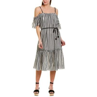 レムレム ワンピース トップス レディース lemlem Shirred Maxi Dress white & black stripes