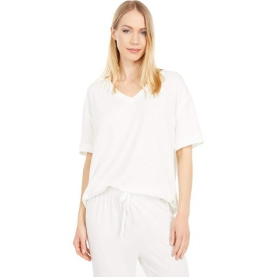 ユミエ Yummie レディース 長袖Tシャツ 七分袖 Vネック トップス V-Neck 3/4 Sleeve Tee Marshmallow