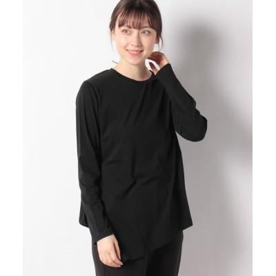 【ルーニィ】 シアーロングスリーブTシャツ レディース ブラック 38 LOUNIE
