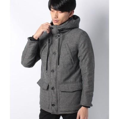【ハルハム】ツイード中綿ジャケット