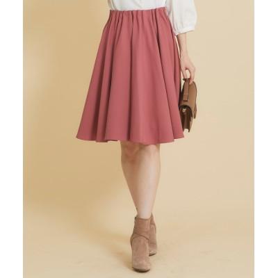 (tocco closet/トッコクローゼット)シンプルタックフレアスカート/レディース D-pink