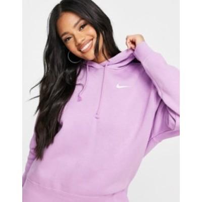 ナイキ レディース パーカー・スウェット アウター Nike Trend Fleece hoodie in purple Purple