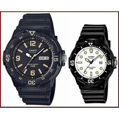 CASIO【カシオ/スタンダード】アナログクォーツ ペアウォッチ 腕時計 ラバー ブラック 海外モデル MRW-200H-1B3/LRW-200H-7E1(送料無料