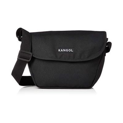 [カンゴール] ショルダーバッグ(タウン用) KANGOLボックスロゴ刺繍 メッセンジャーバッグ ブラック