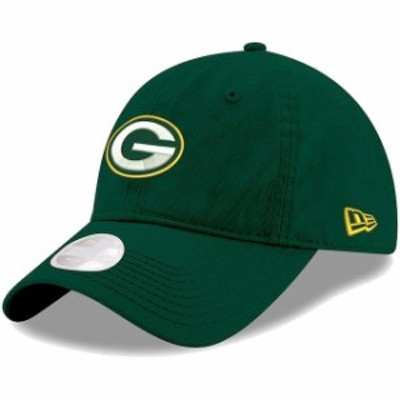 New Era ニュー エラ スポーツ用品  New Era Green Bay Packers Womens Green Primary Preferred Pick 9TWENTY Adjustable Ha