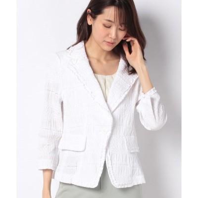 【マダム ジョコンダ】シャーリング刺繍 ジャケット