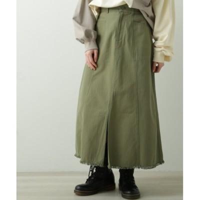 【ダブルネーム/DOUBLE NAME】 スリットフリンジスカート