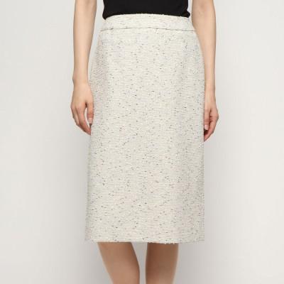 リネーム Rename ツイードタイトスカート (ホワイト)
