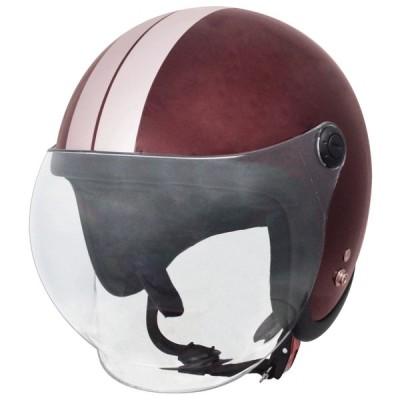 スピードピット(TNK工業) JLT スモールジェットヘルメット(RED.BEEN/SILVER)