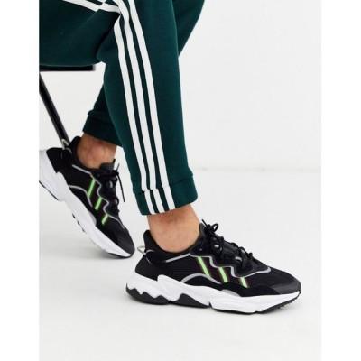 アディダス adidas Originals メンズ スニーカー シューズ・靴 Ozweego trainers in black ブラック