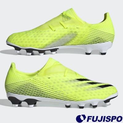 エックス ゴースト.2 HG/AG アディダス(adidas) サッカースパイク シューズ ソーラーイエロー×フットウェアホワイト×チームロイヤルブルー  (FW6979)