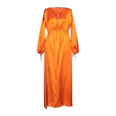 デパートメント 5 DEPARTMENT 5 ロングワンピース&ドレス オレンジ XS レーヨン 100% ロングワンピース&ドレス
