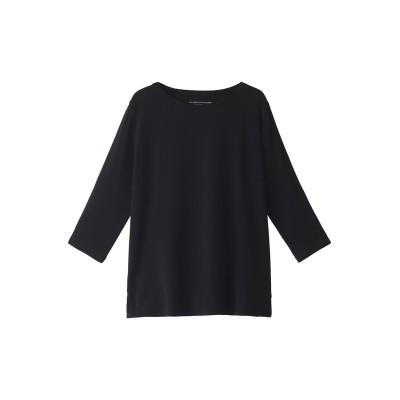 HELIOPOLE エリオポール 【MAJESTIC FILATURES】ヴィスコース 3/4スリーブTシャツ レディース ブラック 1