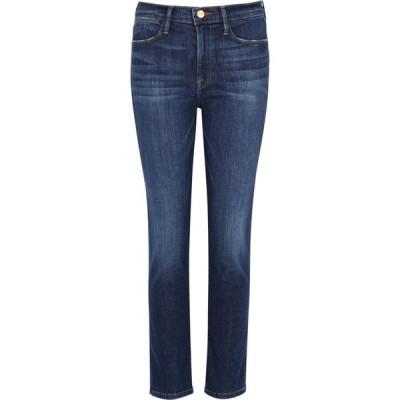 フレーム Frame レディース ジーンズ・デニム ボトムス・パンツ Le High Straight Dark Blue Jeans Blue