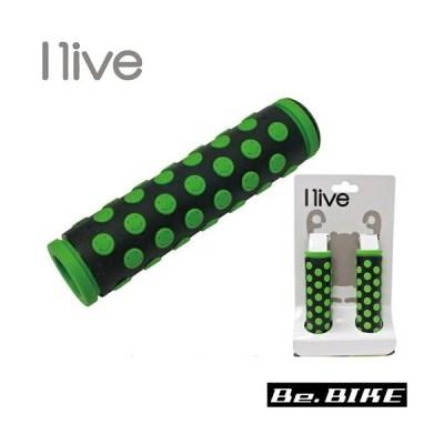 I live スマイルグリップ ブラック/グリーン 自転車 グリップ