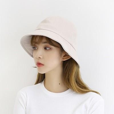 (ファッション帽子)プレーンウォッシュバケットハット面ボンゴジ帽子男女共用/特価セール